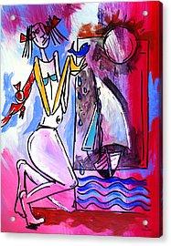 Ameeba- Woman And Sailboat Acrylic Print