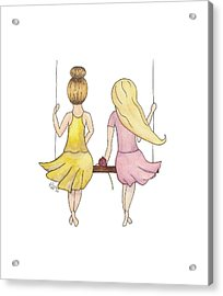 Amelia And Lillian Acrylic Print