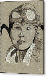 Amelia Earhart Acrylic Print
