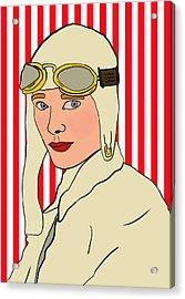 Amelia Earhart Acrylic Print by Nicole Wilson