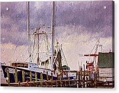 Acrylic Print featuring the digital art Amelia Island Wharf by Barry Jones