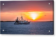 Amelia River Sunset 25 Acrylic Print by Rob Sellers