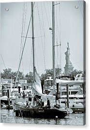 America II And The Statue Of Liberty Acrylic Print by Sandy Taylor