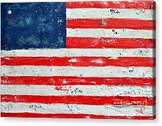 America Acrylic Print by Nicky Dou