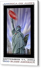 America On Alert II Acrylic Print by Mike McGlothlen