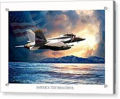 America The Beautiful Acrylic Print by Regina Femrite
