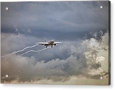 American Aircraft Landing Acrylic Print by Juan Carlos Ferro Duque