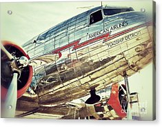 American Airlines Acrylic Print by AK Photography