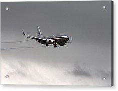 American Airlines-landing At Dfw Airport Acrylic Print