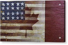 American And Canadian Flag Acrylic Print