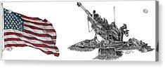 American Artillery Acrylic Print
