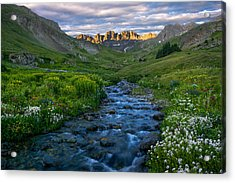 Acrylic Print featuring the photograph American Basin Stream by Aaron Spong