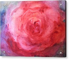 Acrylic Print featuring the painting American Beauty by Sandra Strohschein