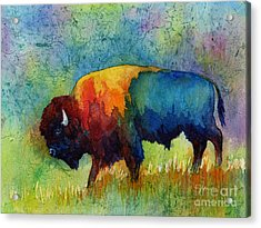 Acrylic Print featuring the painting American Buffalo IIi by Hailey E Herrera