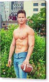 American City Boy Acrylic Print