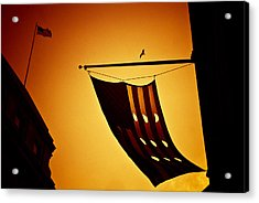 American City Sunset Acrylic Print by Andrew Kubica