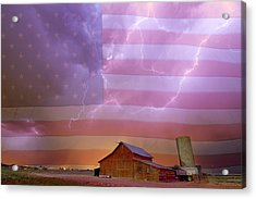 American Country Stormy Night Acrylic Print by James BO Insogna