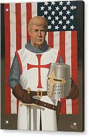 American Crusader Acrylic Print by Michael Di Nunzio