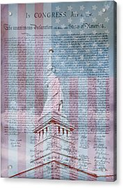 American Declaration Of Independence Acrylic Print