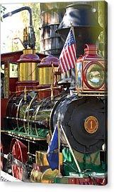 American Dream Train Acrylic Print by Curtis Gibson