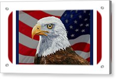 American Eagle Phone Case Acrylic Print by Crista Forest