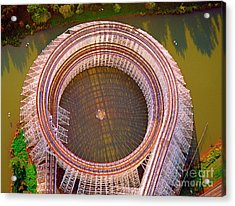 Acrylic Print featuring the photograph American Eagle Roller Coaster  by Tom Jelen