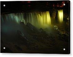 American Falls Night View Acrylic Print by Rick Couper