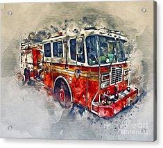 American Fire Truck Acrylic Print