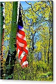 American Flag A Veteran Hunters Homage Acrylic Print