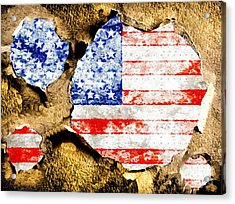 American Flag Grunge Acrylic Print