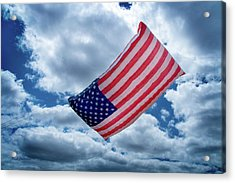 American Flag Kite Acrylic Print by Mick Anderson