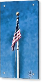 American Flag 'painted' Acrylic Print