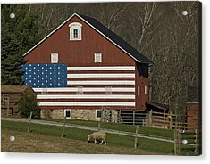American Flag Painted On The Side Acrylic Print