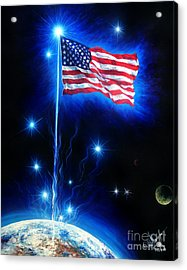 American Flag. The Star Spangled Banner Acrylic Print by Sofia Metal Queen
