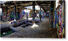 Acrylic Print featuring the photograph American Flat Mill Basement Virginia City Nevada by Scott McGuire
