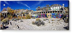 Acrylic Print featuring the photograph American Flat Mill Virginia City Nevada Panoramic by Scott McGuire