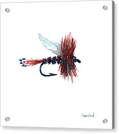 American Fly Acrylic Print by Sean Seal