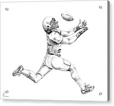 American Football Acrylic Print by Murphy Elliott
