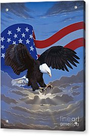 American Freedom Acrylic Print by Ross Edwards