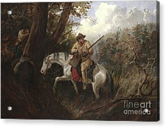 American Frontier Life Acrylic Print by Arthur Fitzwilliam Tait