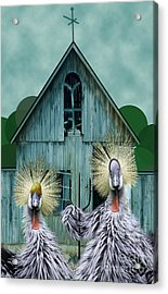 American Gothic Revisisted  Acrylic Print by Lois Mountz