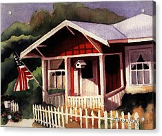 American Home Acrylic Print by Patricia Halstead