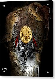 American Indian Dreamcatcher 2 Acrylic Print by G Berry