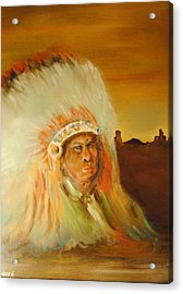 American Indian Acrylic Print by James Higgins