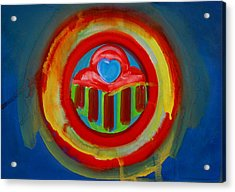 Acrylic Print featuring the painting American Love Button by Charles Stuart