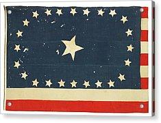 American National Flag Commemorating Arkansas Acrylic Print