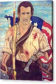 American Patriot Acrylic Print by Jose Cabral
