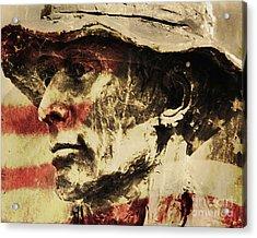 American Patriot Acrylic Print by Kathleen K Parker