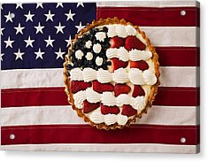 American Pie On American Flag  Acrylic Print