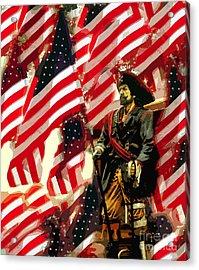 American Pirate Acrylic Print by David Lee Thompson